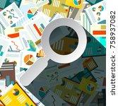 paperwork pilee with paper...   Shutterstock .eps vector #758937082