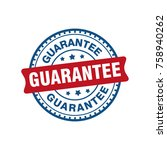 guarantee sign label tag stamp   Shutterstock .eps vector #758940262