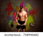 A Muscular Young Bodybuilder...