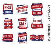 memorial day. typography design ...   Shutterstock .eps vector #758942305