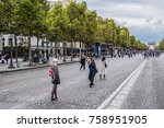 paris  france   september 2 ... | Shutterstock . vector #758951905