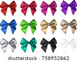 set of decorative colorful... | Shutterstock .eps vector #758952862