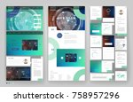 website template design with... | Shutterstock .eps vector #758957296