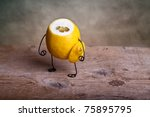 Still-Life with headless Lemon - Simple Things - stock photo