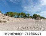 wide sandy beach of the baltic... | Shutterstock . vector #758960275