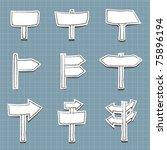 set of road sign labels | Shutterstock .eps vector #75896194