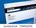 Small photo of LONDON, UK - NOVEMBER 17TH 2017: Homepage of the official website for the UK Government Actuarys Department - responsible for providing actuarial advice to public sector clients, on 17th November 2017