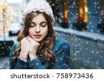 outdoor close up portrait of... | Shutterstock . vector #758973436