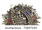 conceptual miniature urban... | Shutterstock . vector #75897433