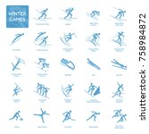 winter olympic games... | Shutterstock .eps vector #758984872