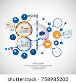 business infographic concept | Shutterstock .eps vector #758985202