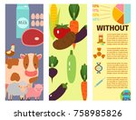 farm cards vector illustration... | Shutterstock .eps vector #758985826