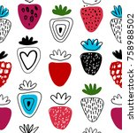 seamless vector pattern with... | Shutterstock .eps vector #758988502