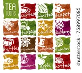 tea icon set | Shutterstock .eps vector #758997085