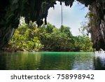 entrance in cave of puerto...   Shutterstock . vector #758998942