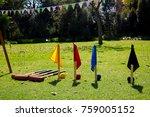 croquet game in the garden on a ...   Shutterstock . vector #759005152