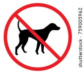 no dogs allowed sign   Shutterstock .eps vector #759005962
