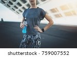 closeup of athletic woman... | Shutterstock . vector #759007552