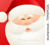 merry christmas greeting card... | Shutterstock .eps vector #759009226