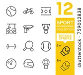 sport accessories collection.... | Shutterstock .eps vector #759012838
