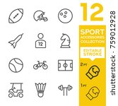 sport accessories collection.... | Shutterstock .eps vector #759012928