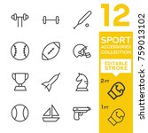 sport accessories collection.... | Shutterstock .eps vector #759013102