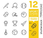 sport accessories collection.... | Shutterstock .eps vector #759013162