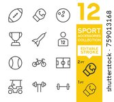 sport accessories collection.... | Shutterstock .eps vector #759013168