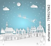 merry christmas and happy new... | Shutterstock .eps vector #759017062