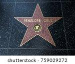 penelope cruz's star  hollywood ... | Shutterstock . vector #759029272