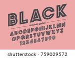 extra bold vector decorative... | Shutterstock .eps vector #759029572