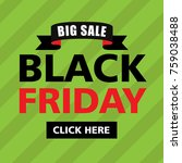 black friday banner sticker sign | Shutterstock .eps vector #759038488