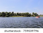 pedal boating in a lake at el... | Shutterstock . vector #759039796