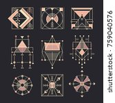 Vector Set Of Sacred Geometry....