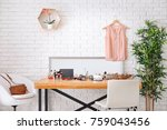 set of decorative cosmetics and ...   Shutterstock . vector #759043456