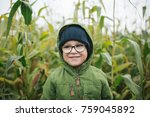 portrait of cute little boy in... | Shutterstock . vector #759045892