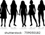 silhouette of a woman. | Shutterstock .eps vector #759050182
