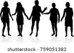 women silhouettes .   Shutterstock .eps vector #759051382