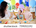 little child and their mother... | Shutterstock . vector #759052192