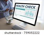 digital health check concept... | Shutterstock . vector #759052222