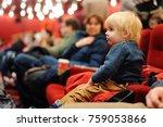 cute toddler boy watching...   Shutterstock . vector #759053866