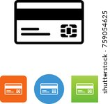 credit card with magnetic strip ... | Shutterstock .eps vector #759054625