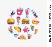 tasty and fast food design   Shutterstock .eps vector #759057982
