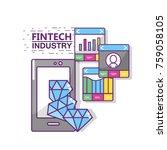fintech industry design | Shutterstock .eps vector #759058105