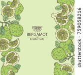 background with bergamot and... | Shutterstock .eps vector #759058216