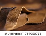 luxury brown leather samples... | Shutterstock . vector #759060796