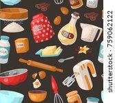 baking cooking vector... | Shutterstock .eps vector #759062122