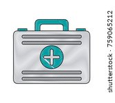 first aids suitcase icon vector ... | Shutterstock .eps vector #759065212