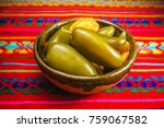 jalape os mexican chili ...   Shutterstock . vector #759067582