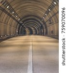 tunnel road with two lane... | Shutterstock . vector #759070096
